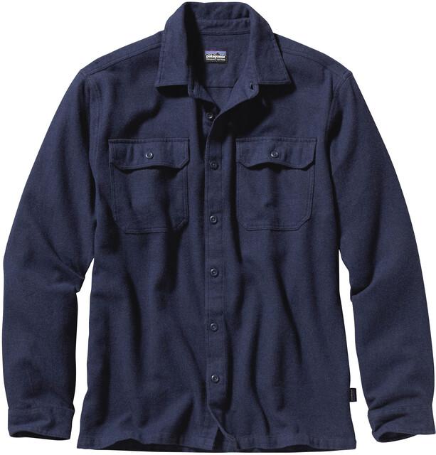 Patagonia M's Fjord LS Flannel Shirt Navy Blå